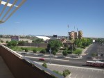 The University of New Mexico football stadium is right out the backdoor of Isotopes Park