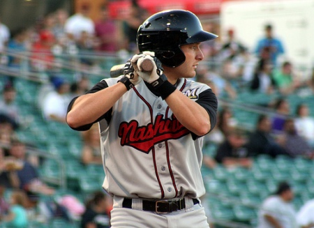 Rangers catcher Jonathan Lucroy (Photo courtesy Nashville Sounds)