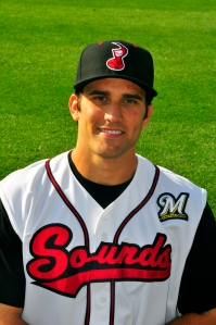 Jeff Bianchi as a 2012 Nashville Sounds infielder (Photo courtesy of Nashville Sounds / Mike Strasinger)