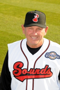 Don Money as Sounds manager in 2011. Photo courtesy of Nashville Sounds / Mike Strasinger