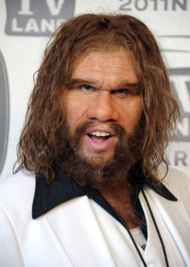The Geico caveman...this is who many of Halton's teammates think he looks like...