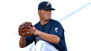 Sounds pitcher Jimmy Nelson, shown above with the Double-A Huntsville Stars