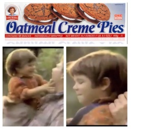 Sean Halton (left), at age 4, appearing in a Little Debbie commercial