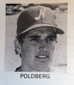Brian Poldberg shown in a Nashville Sounds game program from 1981