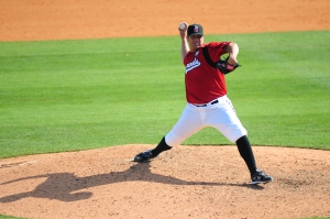Albuquerque pitcher Jeff Bennett, shown during his time with the Sounds. (Photo courtesy Mike Strasinger / Nashville Sounds)