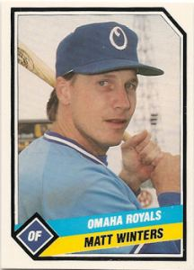 1982 Sounds OF Matt Winters, shown later in his career with the Omaha Royals