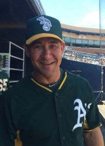 Former major leaguer Bret Boone, now an A's infield instructor