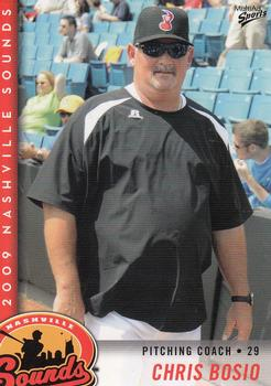 Cubs pitching coach Chris Bosio (Photo courtesy Mike Strasinger / Nashville Sounds)