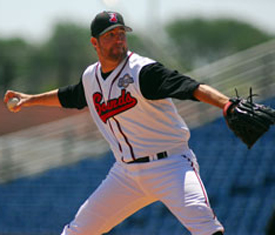 Blue Jays pitcher R.A. Dickey (Photo courtesy of Mike Strasinger / Nashville Sounds)