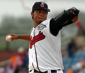 Orioles pitcher Yovani Gallardo (Photo courtesy of Mike Strasinger / Nashville Sounds)