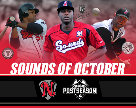 L to R: Fielder, Cain, Dickey (Image courtesy of Nashville Sounds)