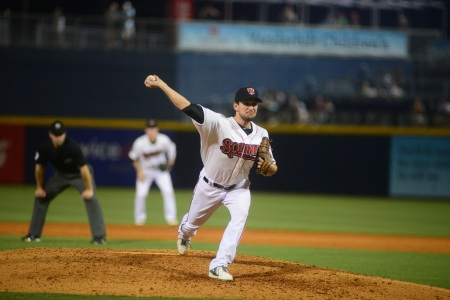 Indians reliever Dan Otero (Photo courtesy of Mike Strasinger / Nashville Sounds)
