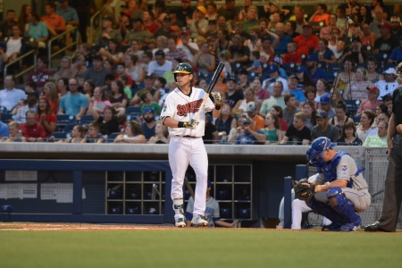 Dodgers outfielder Josh Reddick (Photo courtesy of Mike Strasinger / Nashville Sounds)
